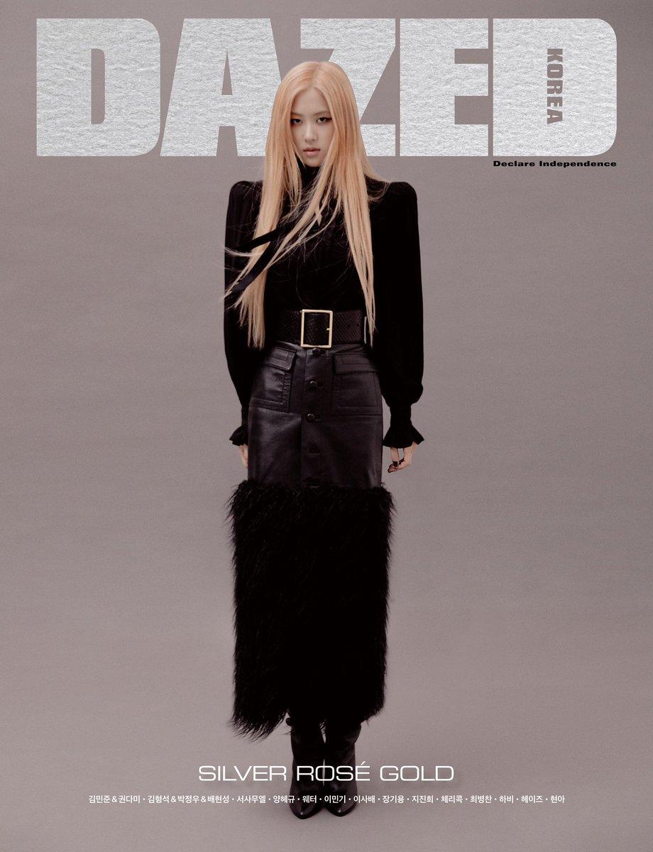 ROSÉ The cover for the October 2019 Issue of DAZED KOREA. #로제 in #ysl with #dazedkorea #CoverDazedKorea