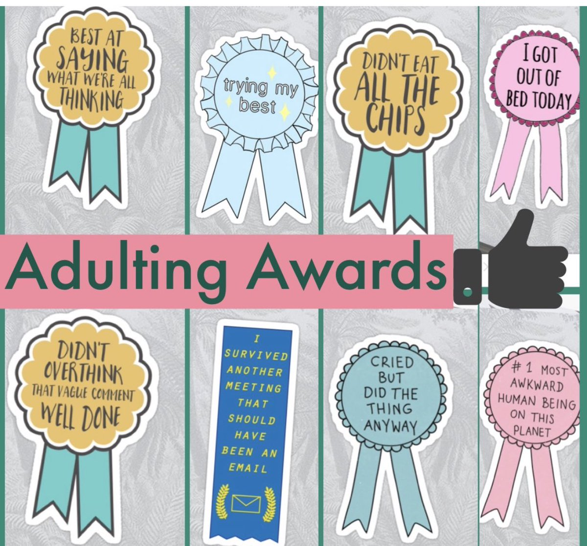 I am aiming for at least 2 Adulting Awards next week! How about you?