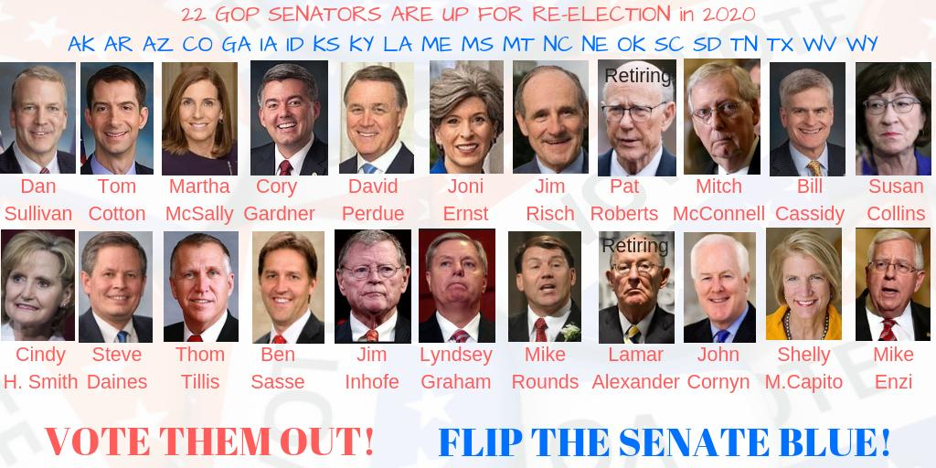 @JohnCornyn Yes, YOU @JohnCornyn are disqualified for reelection Here are the other Republican Senators that need to be replaced that rubber stamped a sexual abuser for the Supreme Court #FlipTheSenate 👇👇👇👇👇👇👇👇👇👇👇👇