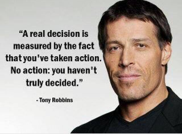 Not necessarily true.  No action also depends on your decision.  In other words, you can decide for taking no action.#TonyRobbins <br>http://pic.twitter.com/u5gm6HiIVN