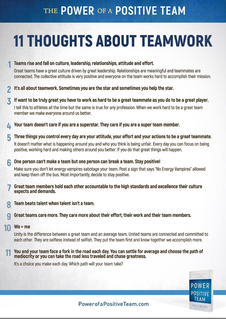 11 Thoughts about Teamwork