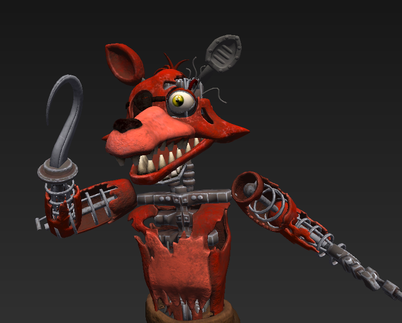Trainguy A Twitter Interesting Fun Fact I Found While Going Through Some Of The Hw Withereds Animations Withered Foxy Reuses The Exact Same Running Jumpscare Animations As Foxy Making It Look Slightly Deformed