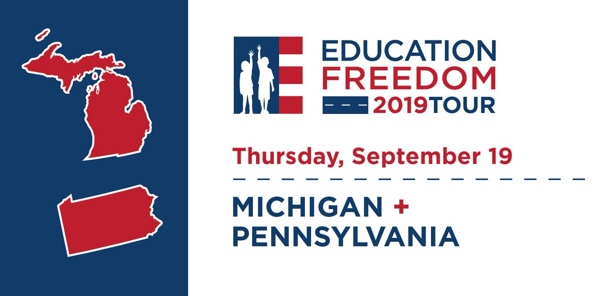 On the road again! On day 4⃣ of the #EducationFreedomTour we're visiting both Michigan and Pennsylvania.