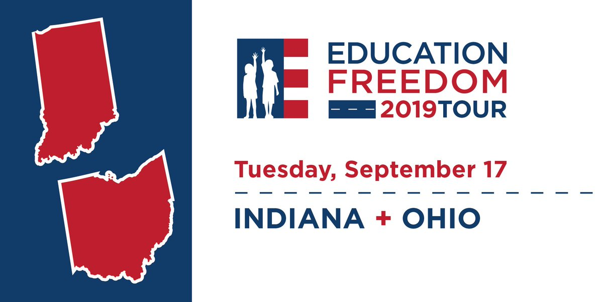 Today is day 2⃣ on the road! Our next stops on the #EducationFreedomTour are Indiana and Ohio.