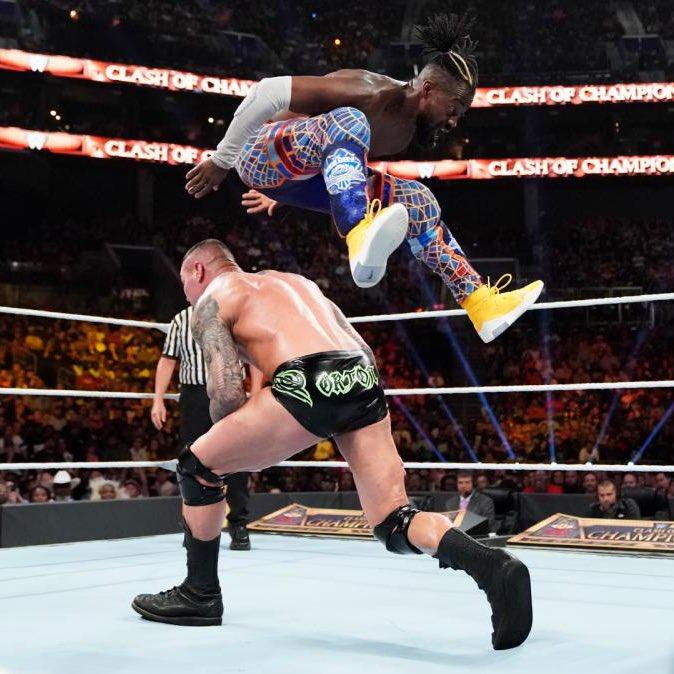 .@TrueKofi retained the WWE Championship at #WWEClash in yellow Nike Air Fear of God 1s. : @WWE<br>http://pic.twitter.com/Nek76nBne2