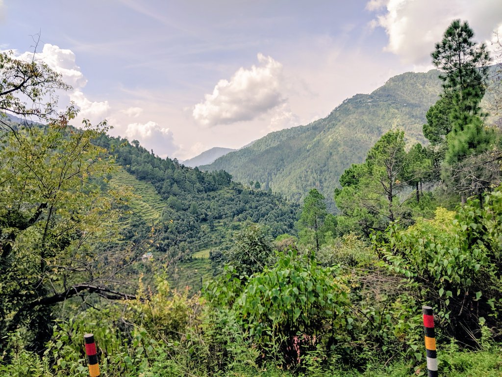 Visiting the mountains is always a great experience. I'm here to explore the land-use patterns and the impacts of resource extraction on mountain forests in the Kumaun Himalayas of the Indian state of Uttarakhand. #Himalayas #Conservation @APELabNUS