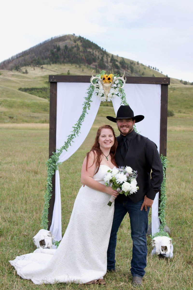 So grateful to welcome Sawyer Loney, a true gentleman and cowboy, to our family! #Blessedcouple