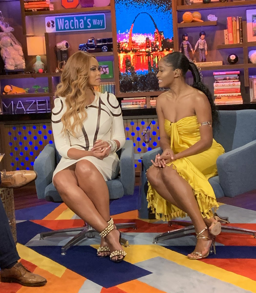 Got to see the ICONIC @KekePalmer and @GizelleBryant at #WWHL tonight and im still not over how perfect they are!!!!