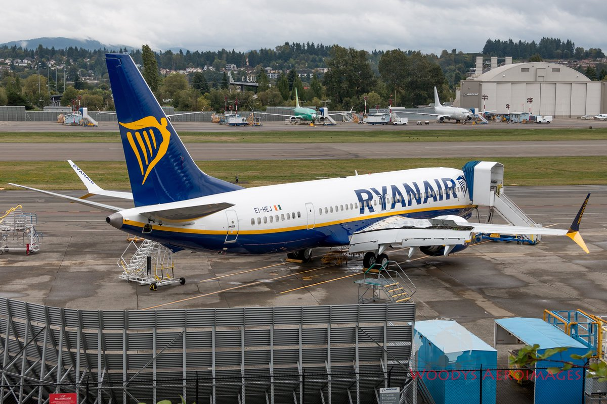 "Woodys Aeroimages on Twitter: ""EI-HEJ 737-8 200 @Ryanair painted on the  flight line. This is the first #737MAX that no longer carries any reference  to ""737 MAX"" or ""737-8200"" on the nose"