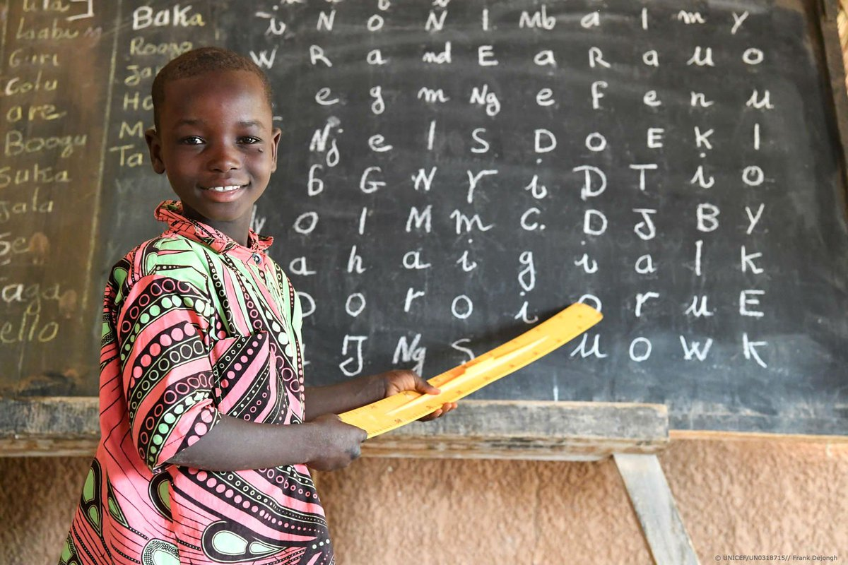 Education is every child's right, yet over 50% of children aged 7 to 16 are not in school in Niger. We're working tirelessly to change that. #ForEveryChild, ✏️📚