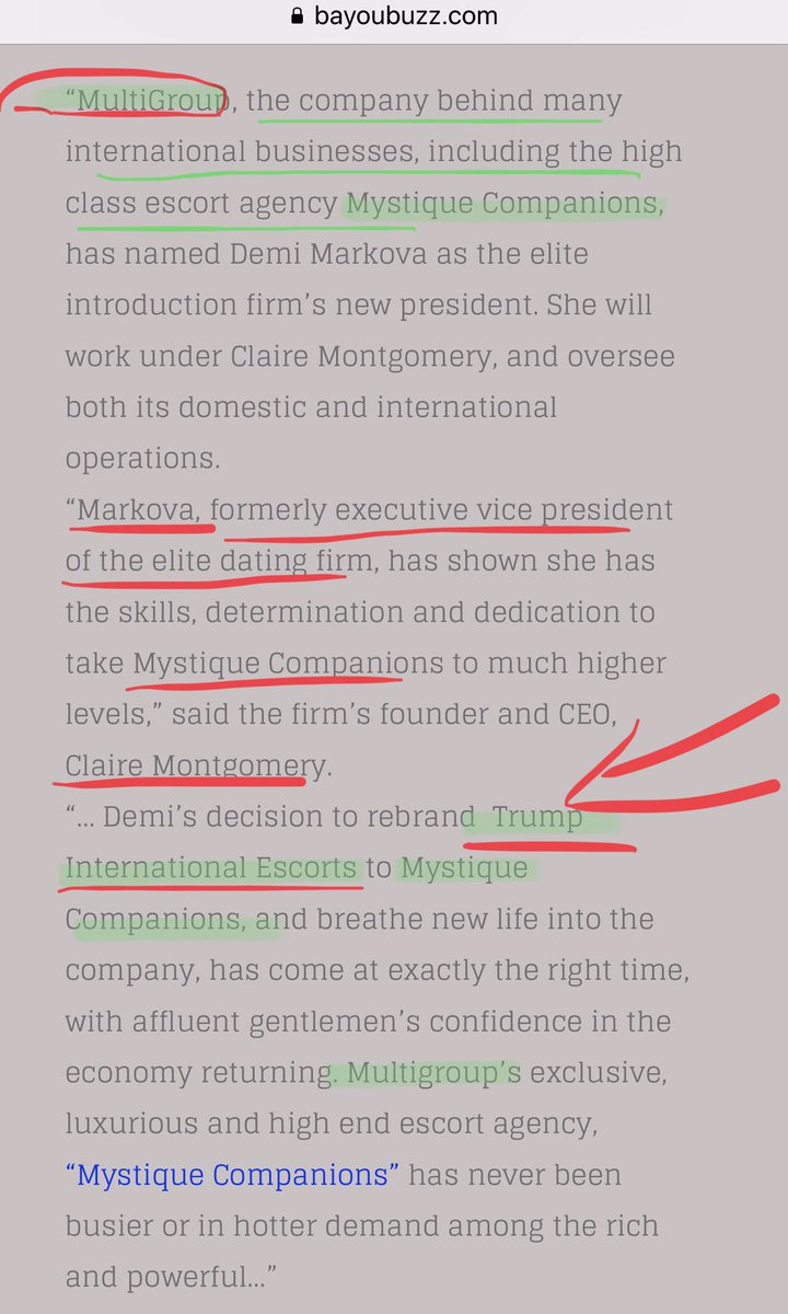 😳I'm sure this is just a crazy fцскiиg coincidence ...but Trump Escorts & Mystique Companions are linked to MultiGroup - which is linked to Robert Maxwell (Ghislaine & Epstein), Mogilevich, the KGB and the Solntsevo mafia... via a press release😳🎩 tip @BayoubuzzSteve