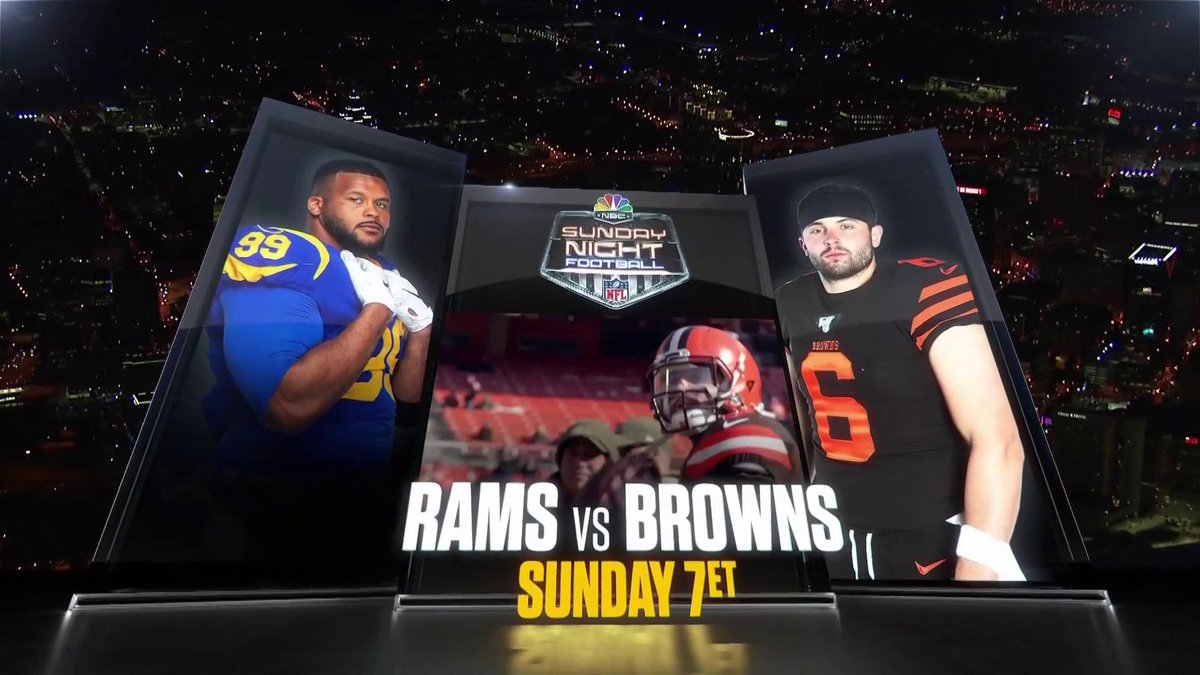 For the first time in more than a decade, were heading to Cleveland! Well see you next week for @ramsnfl and @browns on #SNF.