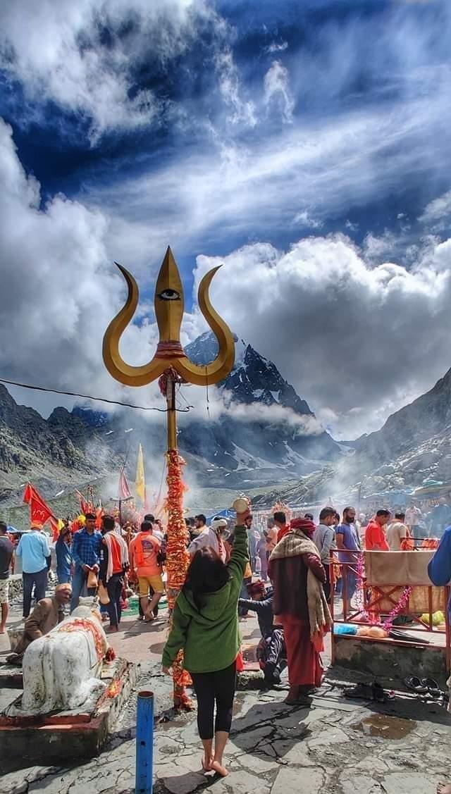 Har har #mahadev .. Manimahesh Kailash Peak @ Chamba #HimachalPradesh @hp_tourism #lordshiva #f4f #himalayas #mondaythoughts