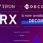 Image for the Tweet beginning: #TRX is available on @decoin_io.