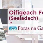 Image for the Tweet beginning: Tá @ForasnaGaeilge ag lorg Oifigeach