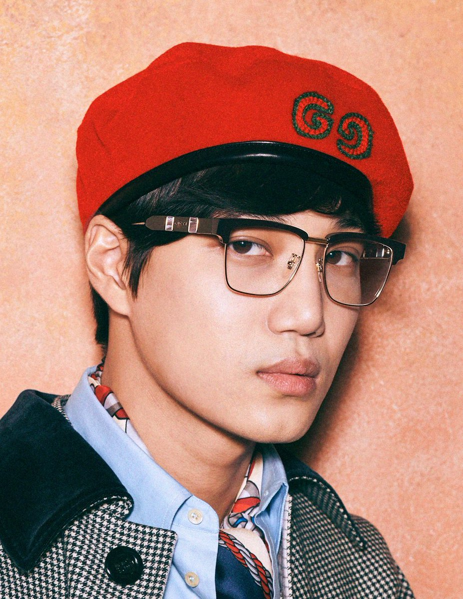 Eye see ya. K-pop star #Kai of #EXO is now #Gucci's first Korean face for the global scene. Joining him the 25-year-old star is popular Chinese actress #NiNi for a new eyewear campaign lensed by Harmony Korine.<br>http://pic.twitter.com/L9E3xoMPRs