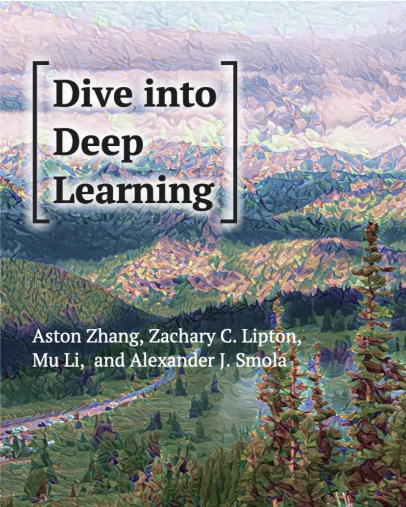 "test Twitter Media - ""Dive into Deep Learning"" — An interactive #DeepLearning book with code, math, and discussions: https://t.co/JBCkquGILe  ————— #BigData #DataScience #DataScientists #Coding #AI #MachineLearning #Mathematics #Algorithms #NeuralNetworks https://t.co/BACNsif2ug"