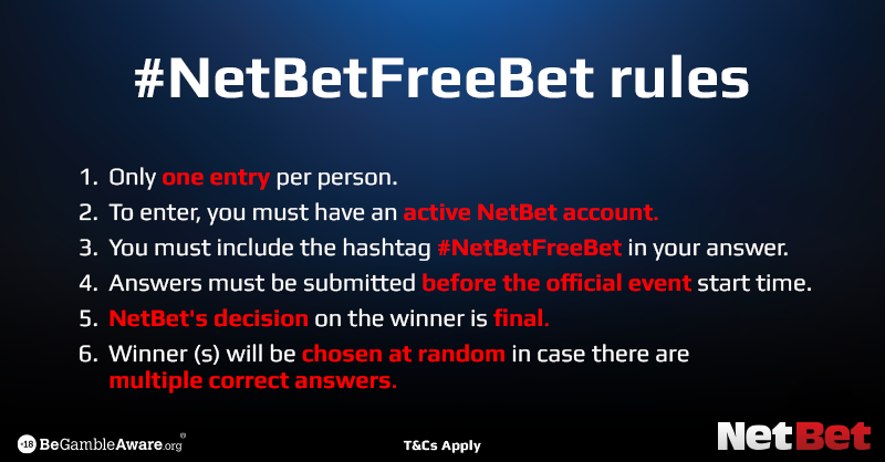 For the chance to win a £20 free bet, predict the final score between Aston Villa and West Ham!  Deadline is 8pm. One entry per person and you must include #NetBetFreeBet in your tweet.  18+ | T&Cs apply |  http:// nbet.co/giveaway      #ASTWHU<br>http://pic.twitter.com/y9PXGi0ZSG