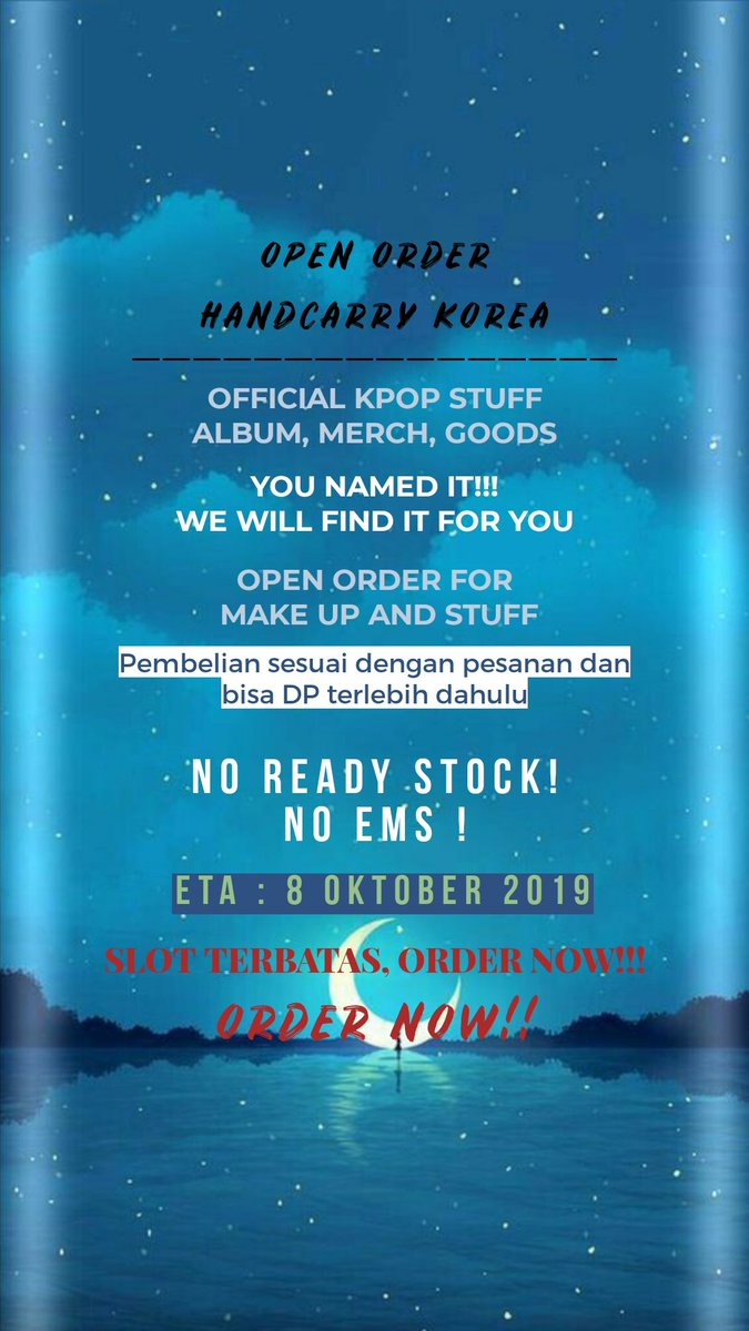 [HELP RT]  OPEN ORDER HANDCARRY KOREA INDONESIA ONLY!!  #HANDCARRY #KPOPpic.twitter.com/SXG4k5AddQ