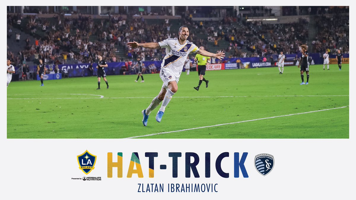 A lion is on the loose in Los Angeles.@Ibra_official with ANOTHER hat trick 🦁🎩