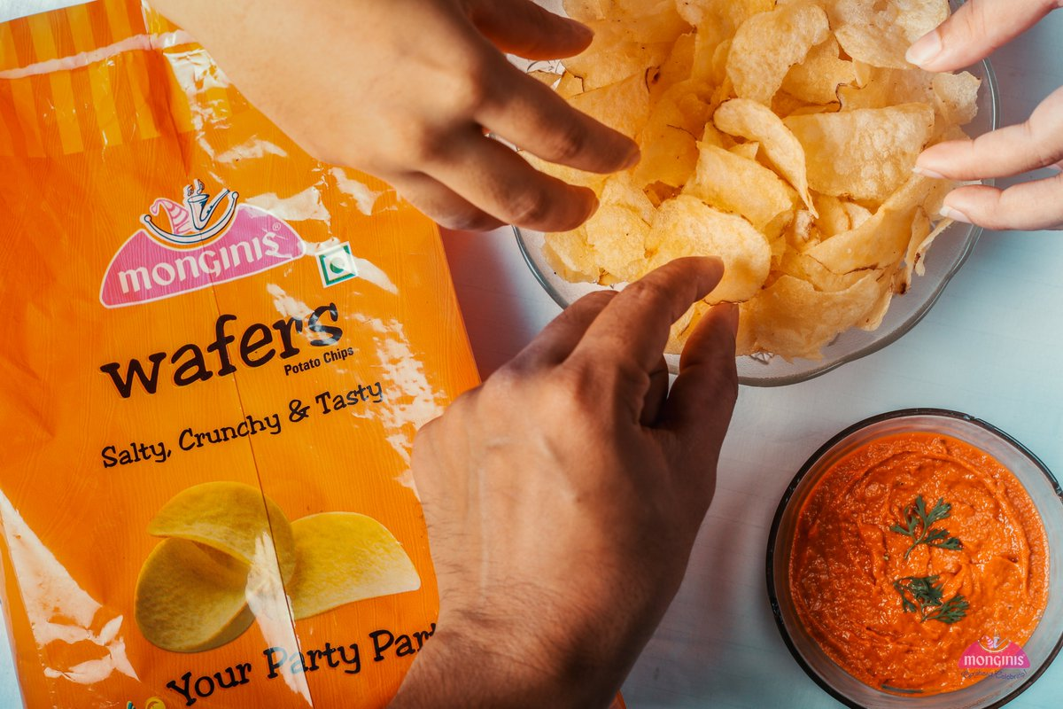 The best thing about potato chips – you can't have just one!Wafers Rs 65/-#monginis #monginisgoa #wafers #potatochips #potatoes #chips #food #foodie #foodporn #instafood #snacks #delicious #tasty #fries #foodphotography #yummy #foodlover #snack