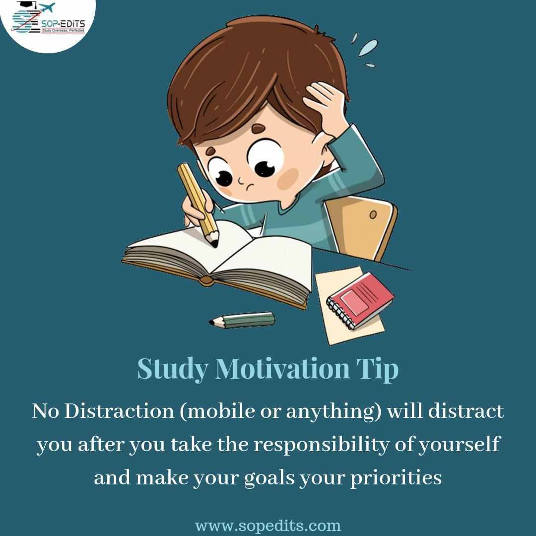 #MondayMotivationKeep yourself distracted away from mobile phones or anything, focus on your goals......#studyhard #sopedits #studyabroad #goals #overseaseducation