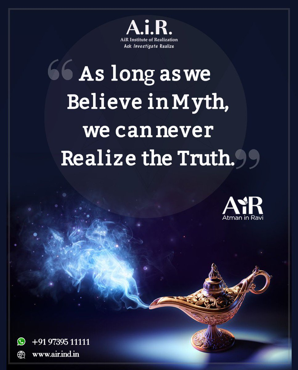 Believe in the Truth! ...#Spirituality #MondayMotivation #AiR #Realizethetruth #AiRAtmaninRavi