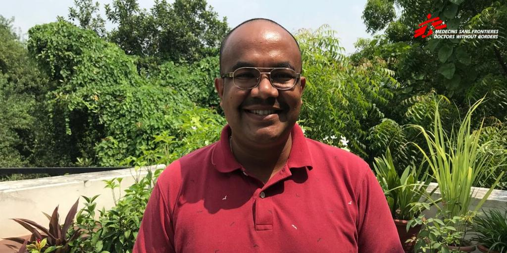 Trying to fight the Monday blues? Meet Sikhar B. Swar, an addiction psychiatrist from #Nepal. He recently returned after completing his 1st assignment with @MSF in Belarus, which is an MDR-TB high burden country. Join us to welcome him back with your💌#MondayMotivation