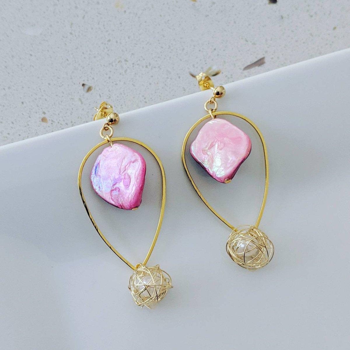 Unique pink seashell with wirewrap pearl, Handmade, Mermaid earring#Gold #Handmade #Earring #Unique #Wire #Black #Pink #White #Mermaid #Oval #Wirewrap #Pearlhttps://www.etsy.com/listing/710220528/unique-pink-seashell-with-wirewrap-pearl?utm_source=poster&utm_medium=api&utm_campaign=api…