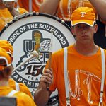 Image for the Tweet beginning: Tennessee band members wear T-shirt