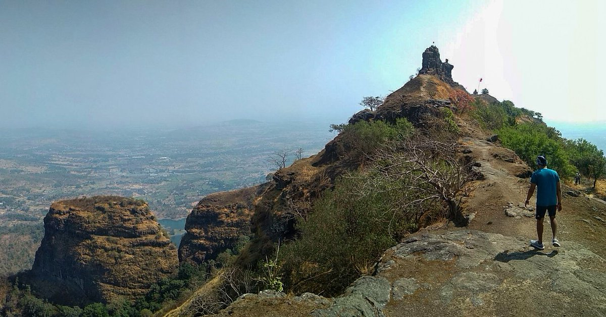 The Best View Comes After Hardest Climb🏔#breathtrekking #trek #trekkersofindia #starttrekking #beginners #forttreasure #maharashtratrekking #fortsofmaharashtra #peak #forest #trekking #mountains #wanderlust #wandering #maharashtratourism #maharashtra
