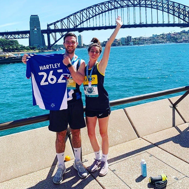 @OfficialOAFC congratulations to Josh and Paige on completing the #sydneymarathon . Thanks for your support. Money raised for #Leukemia and #RUOK . Latics down under!! Great effort. #coyb #latics   Still time to DONATE!! https://bsrf.grassrootz.com/leukaemia/josh-hartley…pic.twitter.com/lr5ZAkLln7