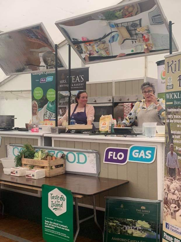 @CatherineOdlums pleasure to meet you at last and stand along side you @Congfoodvillage #festival
