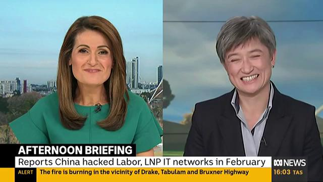 """The accusation seems to be if you ask a person of Chinese heritage a difficult question, thats somehow a racial attack… The PM, in a really low political tactic, has sought to bring in all Chinese Australians... He could end this,"" @SenatorWong tells @PatsKarvelas #auspol"