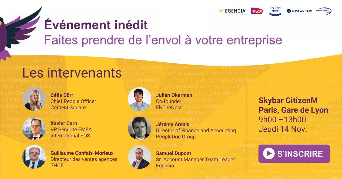 Découvrez l'agenda de ce tout nouvel événement ! Objectif : aider votre entreprise à croître durablement. En partenariat avec @FlyTheNest_team, @IntlSOS, @SNCF, @ChinaSouthernEU et @citizenM >> https://t.co/3oikY3sFh3 https://t.co/eLGD84v8Hi