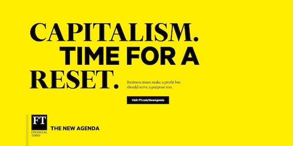 The @FT is calling for a better form of capitalism with its new brand platform, The New Agenda, launching today on.ft.com/2AxOOnb