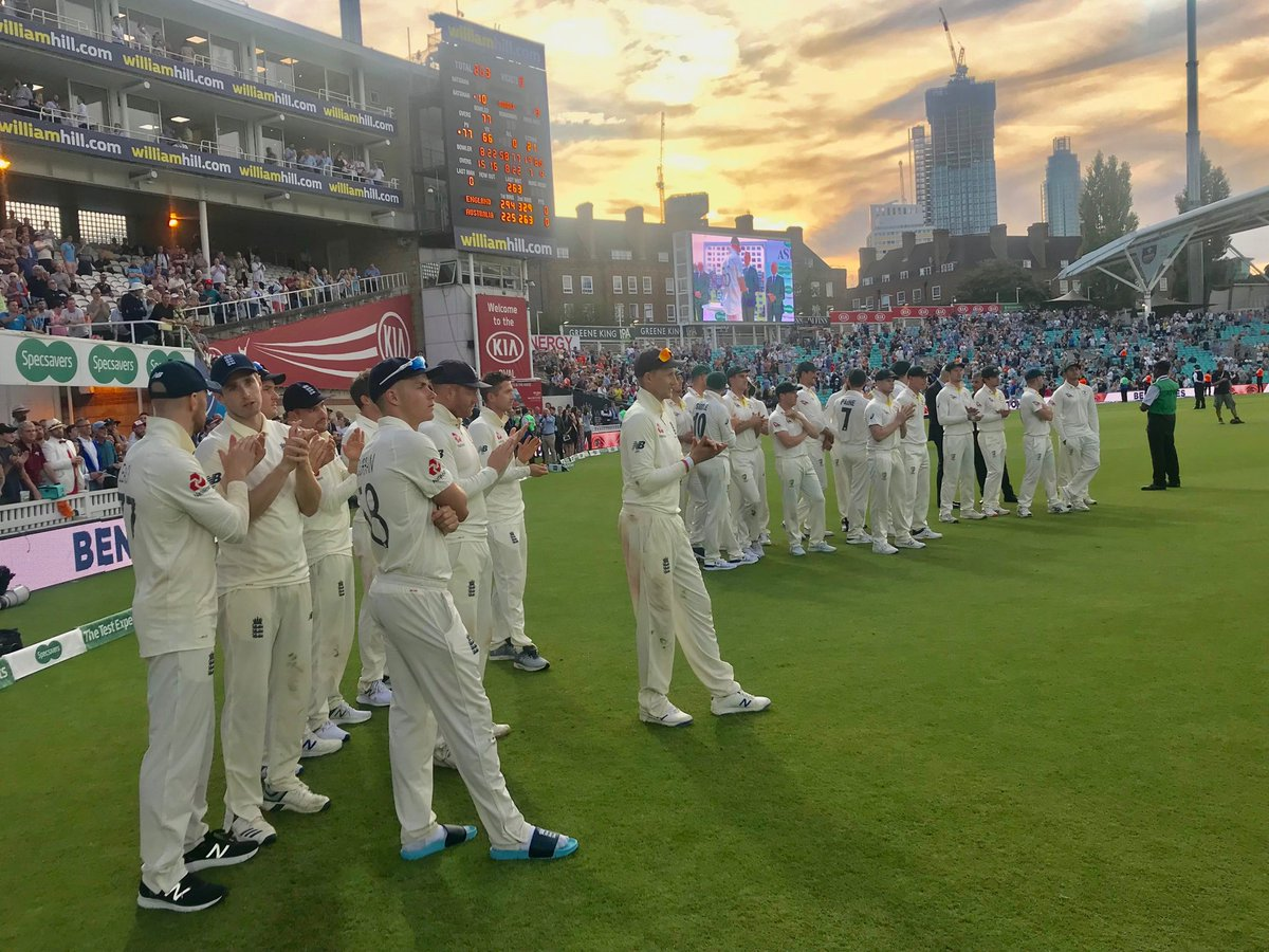 Has a drawn Test series ever given such satisfaction to end an international summer? Intense battles, jaw-dropping brilliance, compelling narratives, superhuman feats as well as flaws. Thanku @englandcricket @CricketAus #Ashes