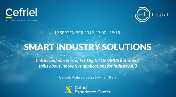 Regístrate ya en el evento Smart Industry Solutions organizado por #OEDIPUS de @EIT_Digital, y...