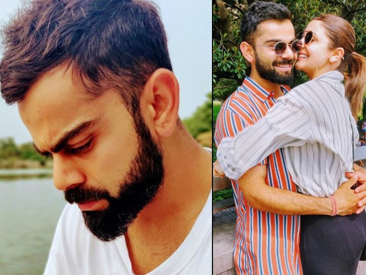 Virat Kohli flaunts Anushka Sharmas name initials on t-shirt. Actress-wife hearts the pic she clicked herself abplive.in/movies/virat-k… #ViratKohli #AnushkaSharma #virushka @imVkohli @AnushkaSharma