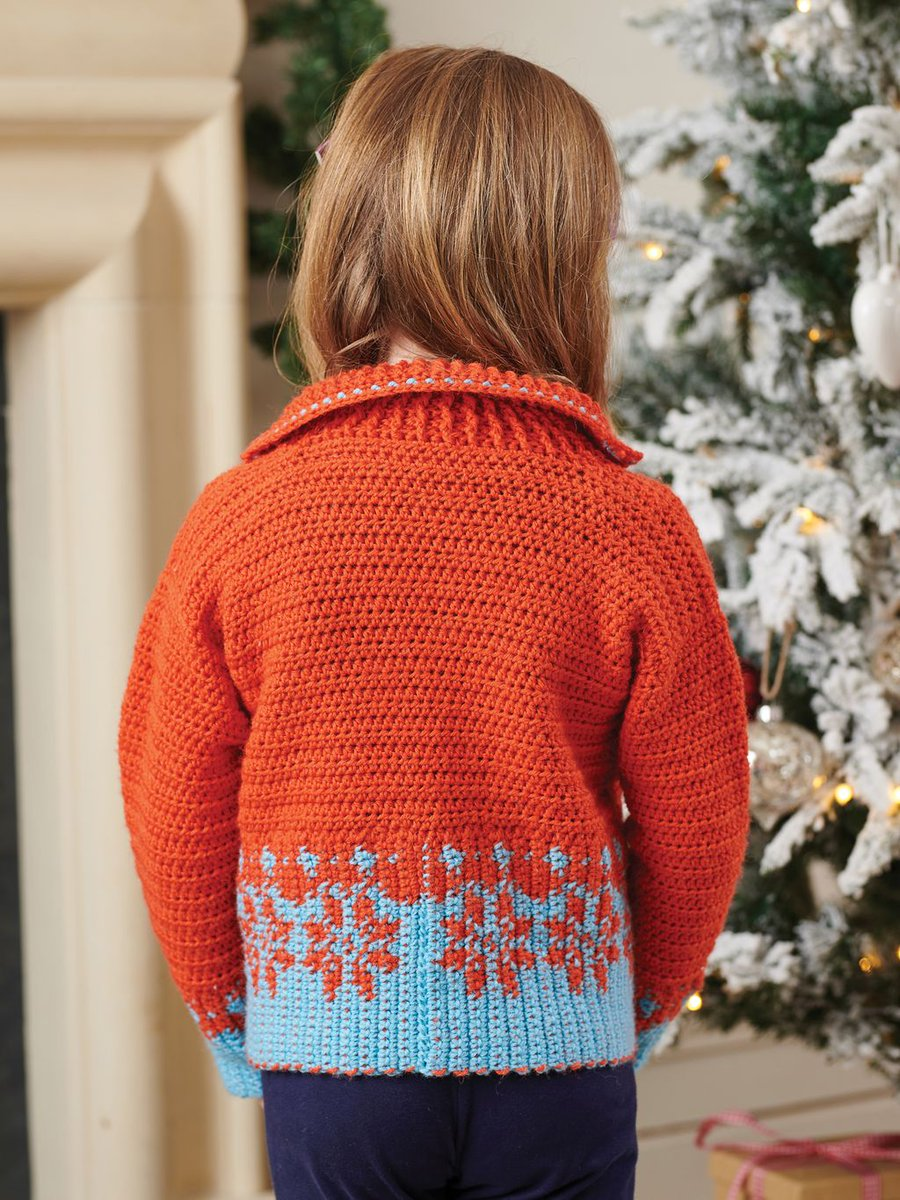 Simply Crochet On Twitter This Kids Snowflake Jumper By Caramedus Is A Project To Push Your Skills Featuring Tapestry Colourwork An Interesting Collar And Garment Shaping It S From Our Crochet Christmas Booklet