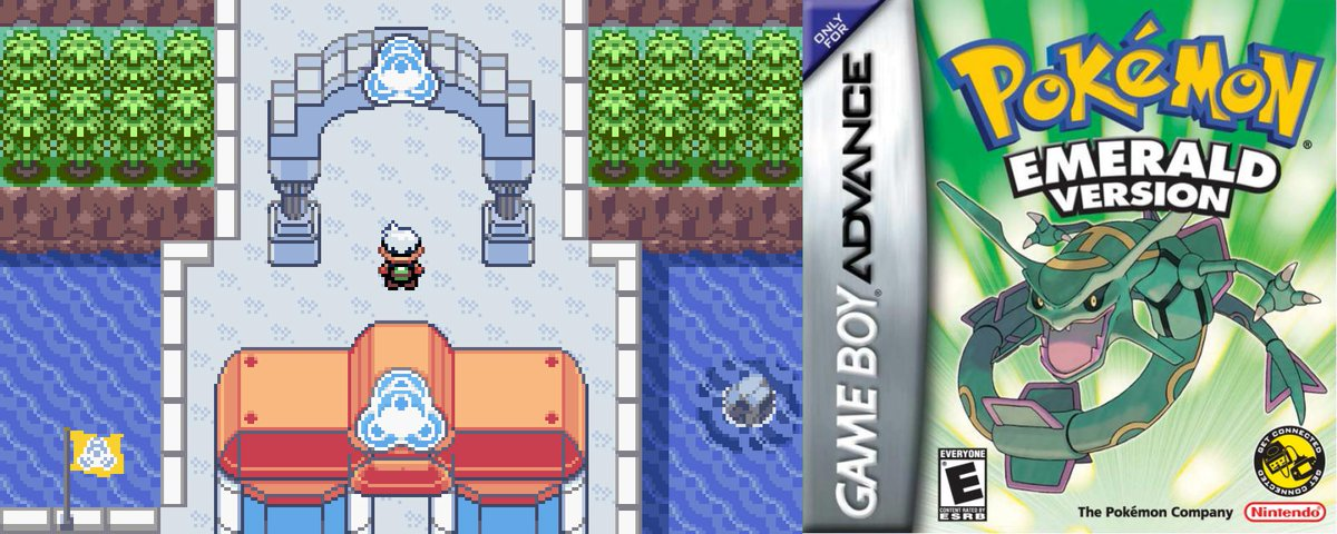 On this day in 2004, 15 years ago, Pokémon Emerald was first released in Japan.  This game was the enhanced version of Ruby & Sapphire and introduced new areas and features including the Battle Frontier   https://www. serebii.net/emerald    <br>http://pic.twitter.com/L7koYZjCRd