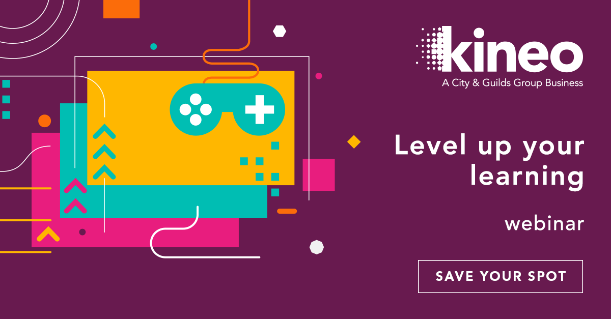 Whats that you hear? Another Kineo webinar coming your way! Register now for Level up your learning: Getting gamification right hubs.ly/H0kLvhC0 #Digitallearning #Gamification