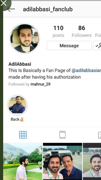 Guys if you are on Instagram than go and follow this Fan page of Adil abbasi that is @adilabbasi_fanclub