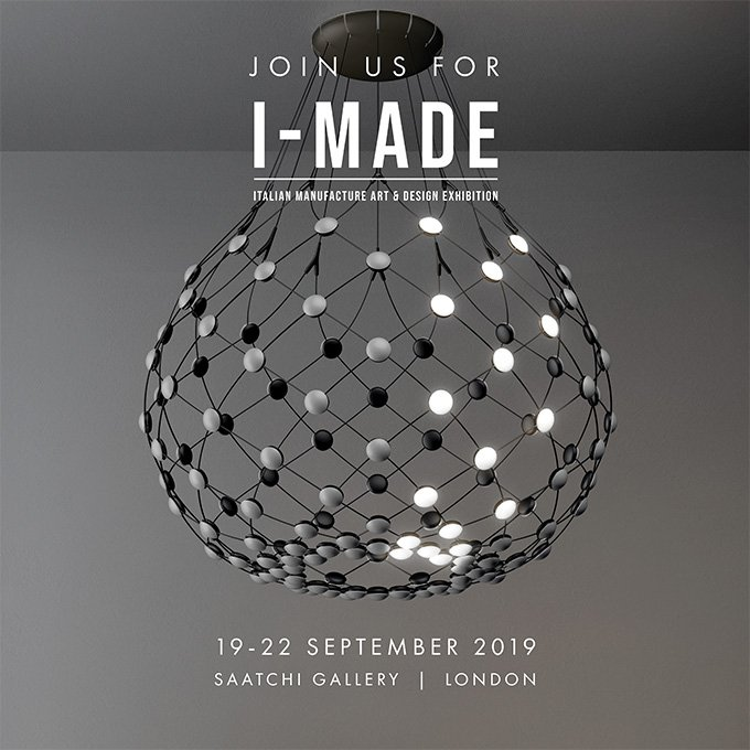 This year during #LDF19, we take part in @IMADE_design, the first exhibition in London solely dedicated to Italian design and housed in Chelsea's iconic Saatchi Gallery. Come to visit, get your ticket https://t.co/DMxB7VrdA3 More info https://t.co/haRS85qeo1  #IMADElondon https://t.co/o0wYaZZA6B