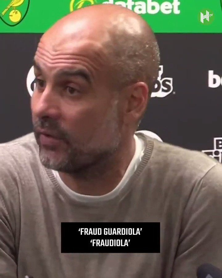 👀 Pep Guardiola brings up THAT infamous Twitter nickname. 🗣 The first season when it was Fraud Guardiola...Fraudiola. 😳 The power of Football Twitter.
