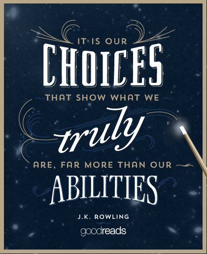 What choices will you make today? This week? This month? This year? #LoveLiteracyLearning