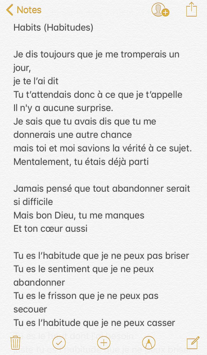 Traduction :   « Habits » - Louis Tomlinson<br>http://pic.twitter.com/vKriSFlvf8