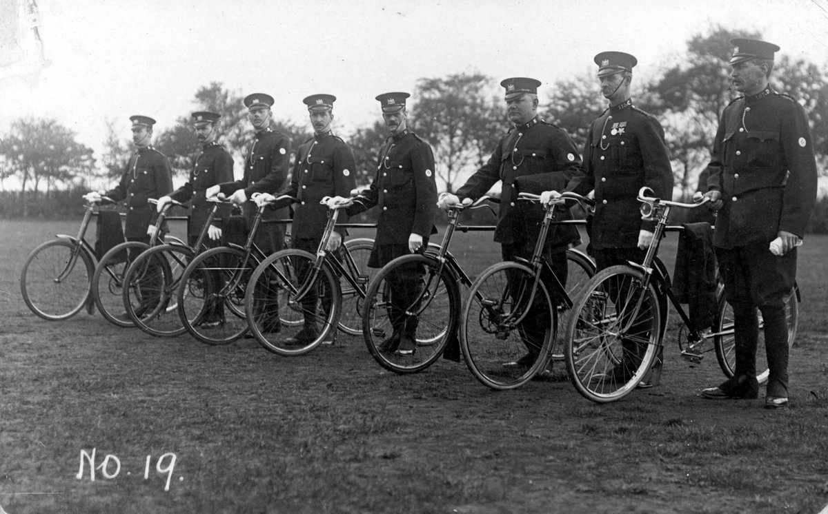 Hope everyone enjoyed seeing the @TourofBritain pass through Manchester this weekend! Heres a pic from our archives of officers getting ready to do their own patrol of Manchester on bike
