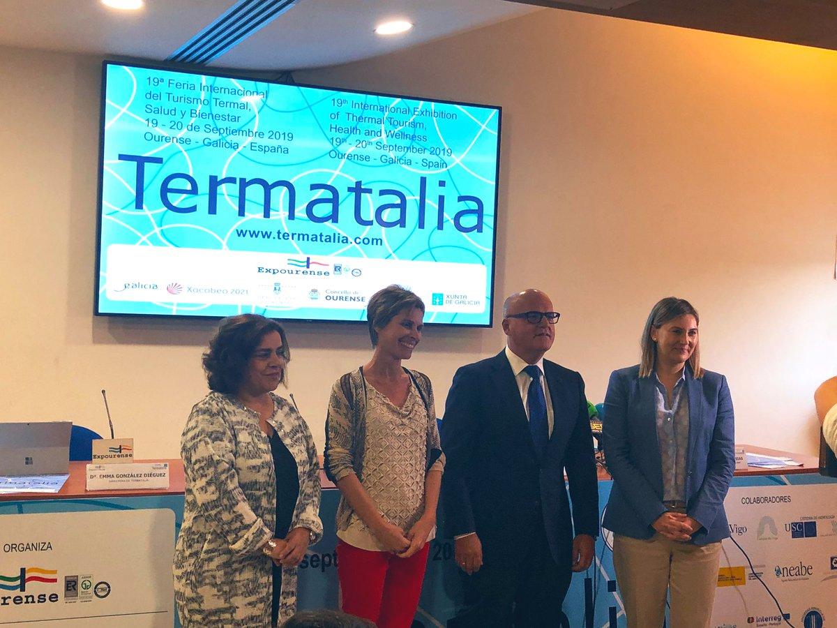 O presidente da @DeputacionOU, @ManuelBaltar, participa na presentación de @Termatalia 2019, a 19ª Feira Internacional do Turismo Termal, Saúde e Benestar. O acto ten lugar en @Expourense. PROGRAMA termatalia.com