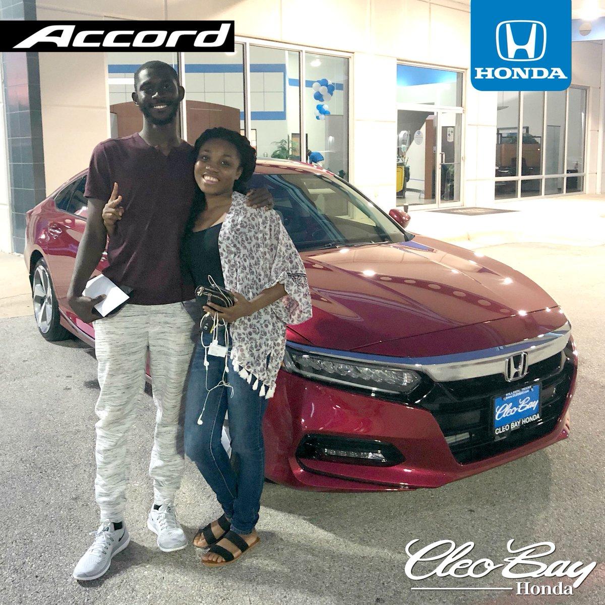 Cleo Bay Honda >> Cleo Bay Honda On Twitter Congratulations Idrissa On Your